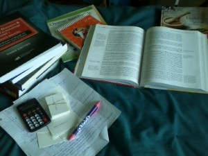 Study Materials for RD Exam, Photo by Shelly Najjar at The Goal LIst