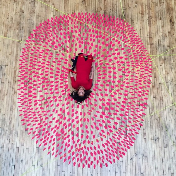 "Photo provided by and used with permission from Stephanie Vivian Yu - December 2, 2015, during a 90 minute performance titled ""A series of movements and postures for self love."" - Caption credit: Stephanie via @I_see_Yu on Instagram, Photo credit: @smilerrose via Instagram"